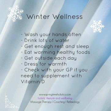Winter Wellness checklist
